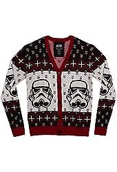 Mighty Fine Star Wars Storm Trooper Christmas Cardigan Sweater