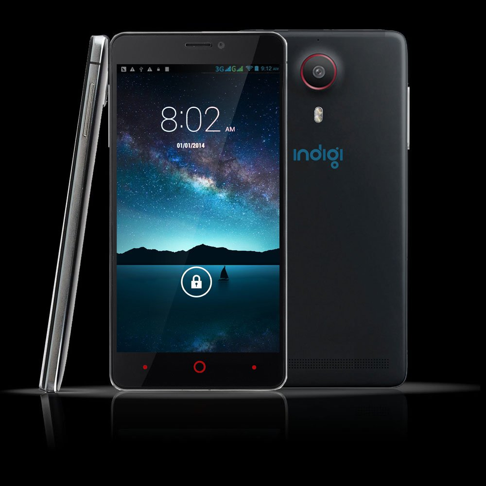 """Indigi® DualCore 3G Smart Phone 5.5"""" Capacitive 2-Sim Android 4.4 - UNLOCKED (AT&T 
