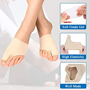 (4pcs) Bunion Corrector,Bunion Relief Sleeve with Soft Gel Cushion REUSEABLE Toe Spacer Socks,Bunion Splints Great for Hallux Valgus & Big Toe Joint,Hammer Toe for Men and Women-Large/X-Large. (Color: Multi-color, Tamaño: Large/X-Large)