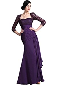 eDressit New Purple Lace Sleeves Evening Dress Prom Gown (26124906)       Customer review and more information