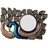 Ghanshyam Art Wood Peacock Wall Mirror (45.72 Cm X 4 Cm X 30.48 Cm, GAC074)