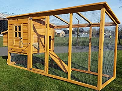 8ft Cocoon Chicken Coop For 5-8 Birds Hen House Poultry Ark Nest Box New - Now With Rear Vent Holes And Secure Nest Box Floor - 30% More Living Space Than Model 3000 Now With Opening Roof For Easy Cleaning (no Shiping To Northern Ireland, Islands, Scottis