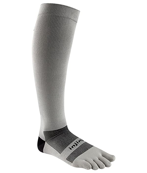 Injinji Ultra Compression OTC Sock (Small, Gray) (Color: Gray, Tamaño: Small)
