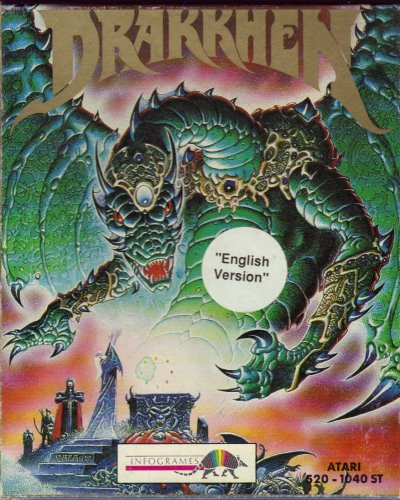 Drakkhen Computer Video Game Atari ST 1989