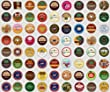 30 Count - Regular Coffee, Flavored Coffee, Decaf Coffee, Tea, Hot Cocoa, Ciders, Brew Over Ice Variety Sampler K Cups for Keurig Brewers - 30 Different K Cups Guaranteed from green mountain, caribou, barista prima, van houtte, donut house, celestials, ti