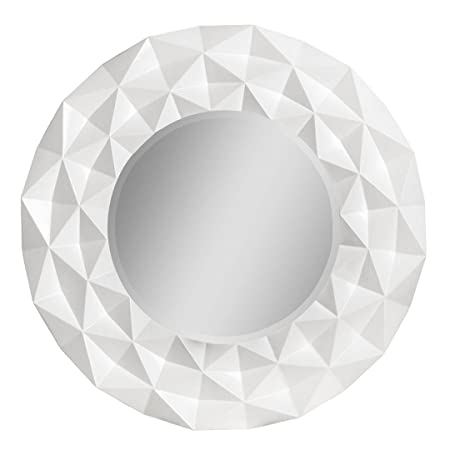 Protege Homeware White High Gloss Wall Mirror