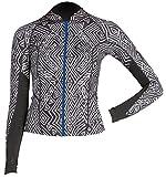 1mm Junior's Billabong PEEKY Front Zip Wetsuit Jacket - Black/White, 10