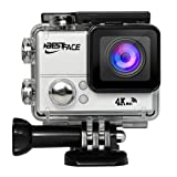BestFace Sports Action Camera 4K Ultra HD WiFi HDMI 2.0 LCD Screen Waterproof DV for Outdoor Sporting Silver