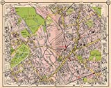E LONDON. Old Ford Bow West Ham Forest Gate Hackney Leyton Stratford, 1953 map