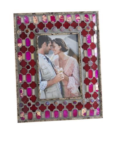 """Shiraleah Agadir Ruby Tile Mosaic 4"""" x 6"""" Picture Frame"""