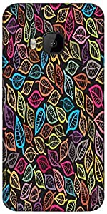 Snoogg A Seamless Pattern With Leaf Designer Protective Back Case Cover For HTC M9