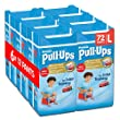 Huggies Pull-Ups Boys Day Time Pants Convenience Pack, Large - 6 Packs (12 Pants Per Pack, 72 Pants Total)