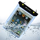 Blue 7 Inch Waterproof Tablet Pouch Dry Bag Case Sleeve For Samsung GALAXY Tab 2 / iPad Mini / Amazon Kindle Fire / HTC Flyer Wi-Fi / Nexus 7(32G)/NATPC M010S 8GB / NATPC M009S RTB ULTIMATE 7 16GB Capacitive Android 4.0 ICS (Ice Cream