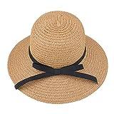 Hollazilla(ホラズイラ) 折りたたみ可能 レディース 春 夏 パラソル帽 日焼け止め 太陽帽 砂浜 海辺 麦わら帽子
