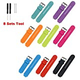 Replacement Bands and Straps for Garmin Forerunner 735XT 630 620 235 230 220 GPS Running Watch - 8pcs (8PCS) (Color: 8PCS)