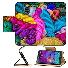 buy Luxlady Premium Samsung Galaxy Note 4 Flip Pu Leather Wallet Case Colorful Silk Yarns At Jim Thompson House Museum Bangkok Thailand Image Id 25822241