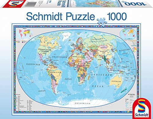 Geographical World Map 1000 pcs
