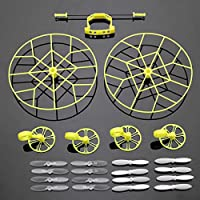 Pink Lizard Protection Wheels w/ 4 Pairs Propellers For Cheerson CX-10 CX-10A JJ810 JJ820 RC Quadcopte from Pink Lizard Products