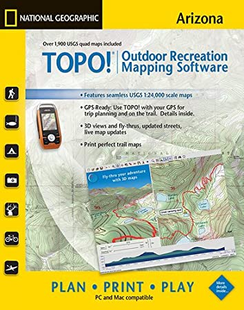 TOPO! National Geographic USGS Topographic Maps (Arizona)