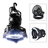 Image Portable LED Camping Lantern with Ceiling Fan (Color: Black)
