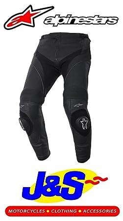 Alpinestars Missile en cuir moto Jeans Pantalon de moto Noir J & S