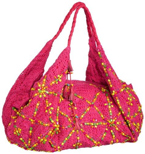 Antik Batik  CROCHET,  Borsa shopper donna, Rosa (Pink (PINK)), 45x35x25 cm (B x H x T)