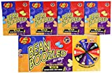 Jelly Belly 3.5 oz BeanBoozled Spinner Wheel Game Jelly Bean Gift Box 3rd Edition with 4 - 1.6 oz BeanBoozled Jelly Bean Refills (Party Pack)