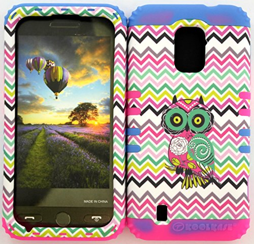 Wireless Fones Tm Zte Majesty Z796C Zte Source N9511 Tuff Impact Hybird Cover Case Mossy Camouflage Owl On Colorful Chevron On 2 Tone 1 Silicone Skin front-839767