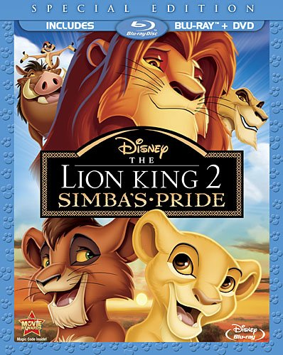 Cover art for  The Lion King II: Simba's Pride Special Edition (Two-Disc Blu-ray/DVD Combo in Blu-ray Packaging)