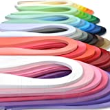 JUYA Paper Quilling Set up to 42 Colors One Color and 100 Strips per Pack 3/5/7/10mm Width Available(42 Colors, Width 3mm) (Color: 42 Colors, Tamaño: Width 3mm)