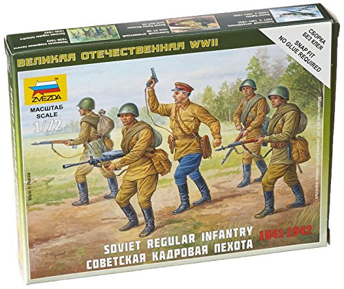 Zvezda Models Soviet Regular Infantry Building Kit (1939-42), Scale 1/72 - 1