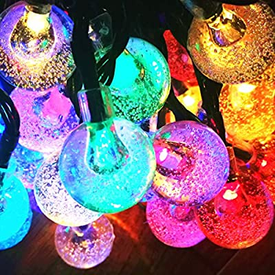 60LED 36FT 4Color Crystal Ball Solar String lights for Garden, Patio, Yard, Home, Christmas Tree Sogrand Solar Lights Outdoor