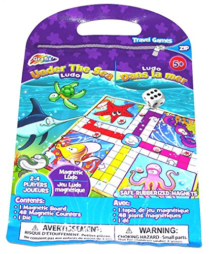 Grafix Under The Sea Magnetic Travel Board Game Enclosed Zip Pouch