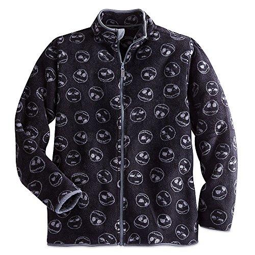 Disney Men's Jack Skellington Fleece Jacket MENS L Black (Jack And Jack Jacket compare prices)