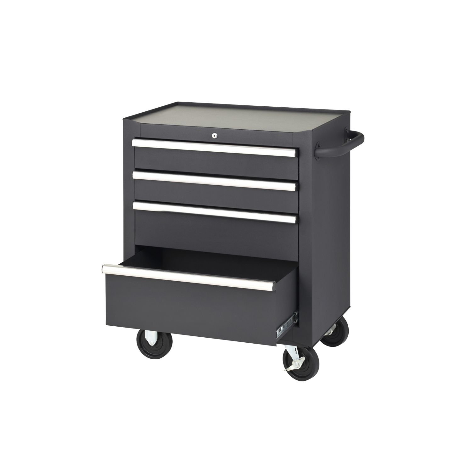 four drawer rolling tool cabinet garage storage wheels ab905768 ebay. Black Bedroom Furniture Sets. Home Design Ideas