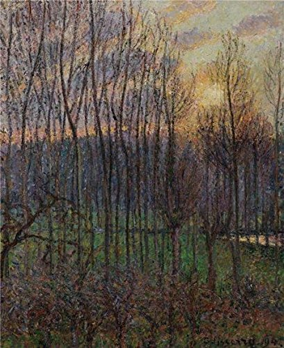 Perfect Effect Canvas ,the Reproductions Art Decorative Prints On Canvas Of Oil Painting 'Camille Pissarro,Poplars,Sunset At Eragny,1894', 20x24 Inch / 51x62 Cm Is Best For Home Office Gallery Art And Home Decoration And Gifts (Electric Art Gallery compare prices)