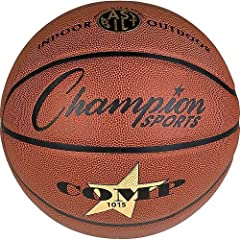 Buy Champion Sports Cordley Composite Leather Basketball (Official Junior Size) by Champion Sports