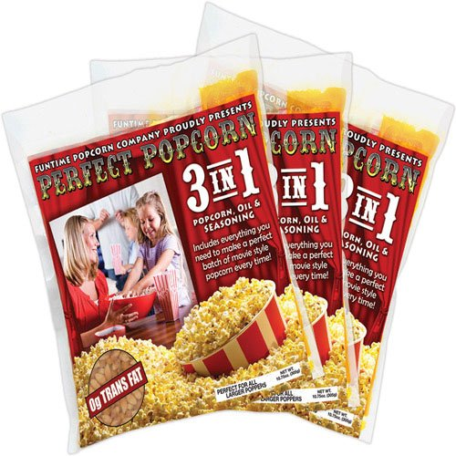 FunTime FT2512 2.5-Ounce Popcorn 3 in 1 Kernel Oil Seasoning Kits - 12 Super Pack (Funtime Popcorn 12 compare prices)
