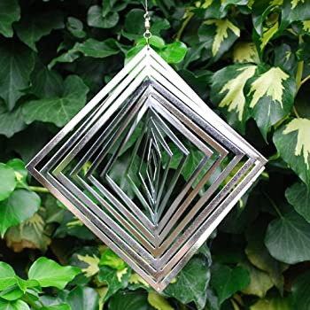We are proud to present the Diamond Shaped Steel Wind Spinner For The Garden