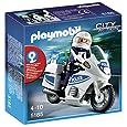 PLAYMOBIL 5180 Polizeimotorrad mit Blinklicht