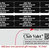 Personalized Golf Club Name Labels - Set of 16 Club Valet® Durable Vinyl Golf Club Labels with Permanent Adhesive [Silver]