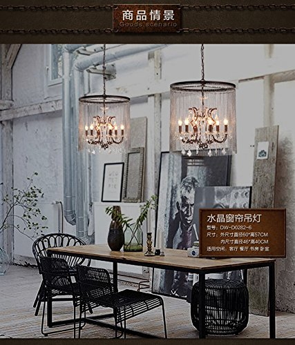 Style Vaille Crystal Chandelier Antique Rustic Finished Ceiling Lamp