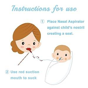 Premium Baby Nasal Aspirator Infant Booger Sucker, Non-Irritation, Fast and Reusable