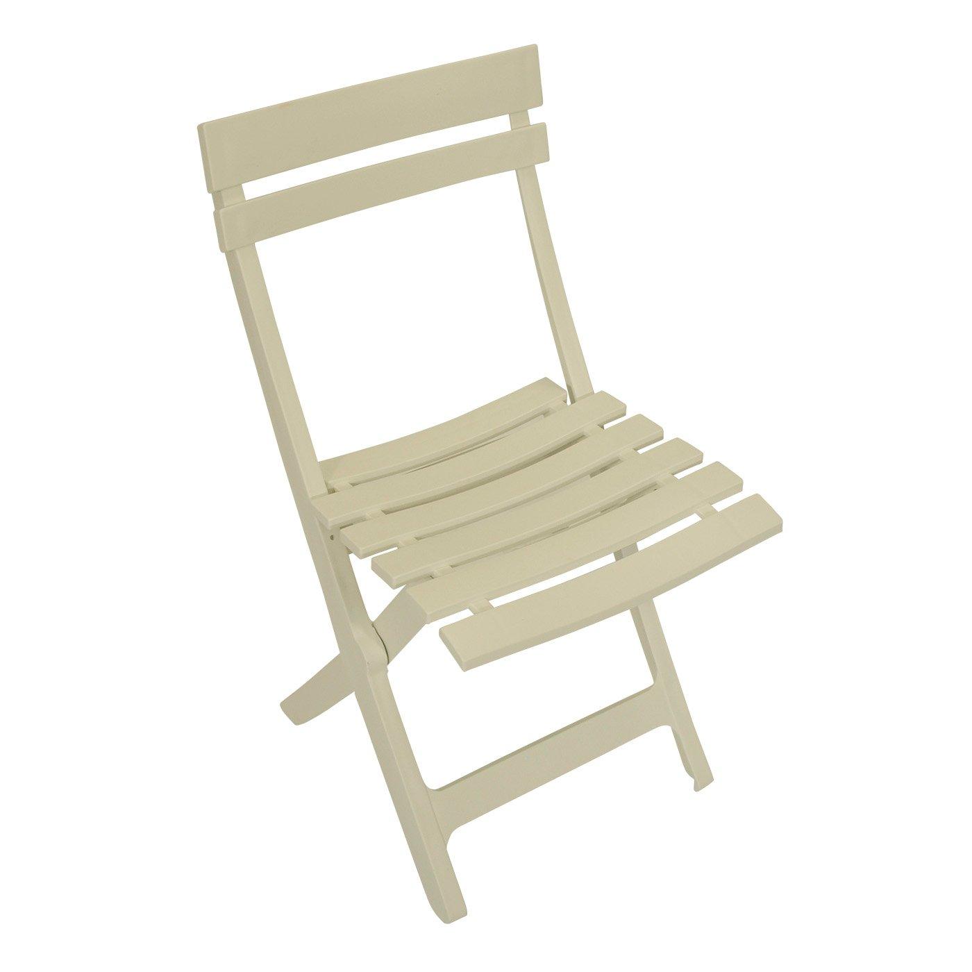 klappstuhl miami aus kunststoff weiss wetterfest g nstig online kaufen. Black Bedroom Furniture Sets. Home Design Ideas