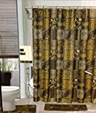 Amazon.com: 4 Piece Curtain Set: 2 Jungle Safari Brown