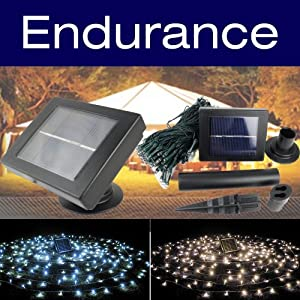 PowerBee ® Endurance Deluxe Solar Fairy Lights 100 Quality Superbright LED's Multi Function Indoor / Outdoor Garden, Party, Tree Lights for ALL YEAR round use including winter from PowerBee Ltd