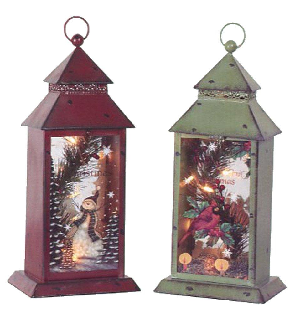 Christmas Cardinal Tabletop Lanterns | Christmas Wikii