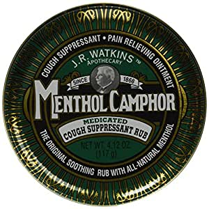 JR Watkins Original Menthol Camphor Cough Ointment/Rub 4.1 oz
