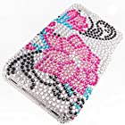 Apple iPhone 4 Cover Case by ShockWize; Diamas Series featuring designs and artwork that bring artsy creative depictions, animal prints, and cartoon characters to life with sparkle catching diamond rhinestones for added beauty, while form fitting two piece snap on hard plastic provides advanced protection iphone4 4s (DIAMAS) (a dozen pink pedals)