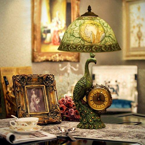 Deal costo figure dipinte a mano lampada da tavolo peacock for Costo lampada